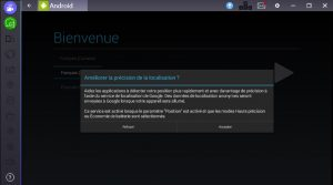 emulateur android menu