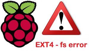 Réparer le système de fichier ext4 de votre Raspberry Pi